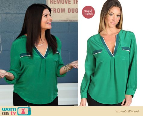 Happy Endings Fashion: Mystic blouse by Joie worn by Casey Wilson