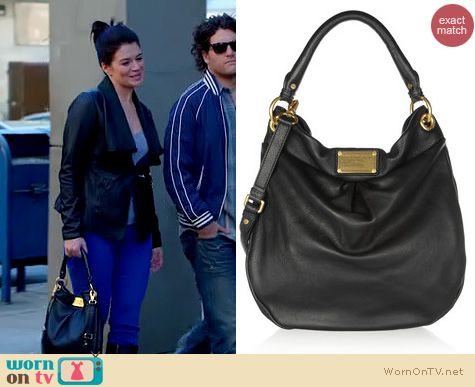 Happy Endings Fashion: Marc by Marc Jacobs Classic Q Hillier Hobo back worn by Casey Wilson