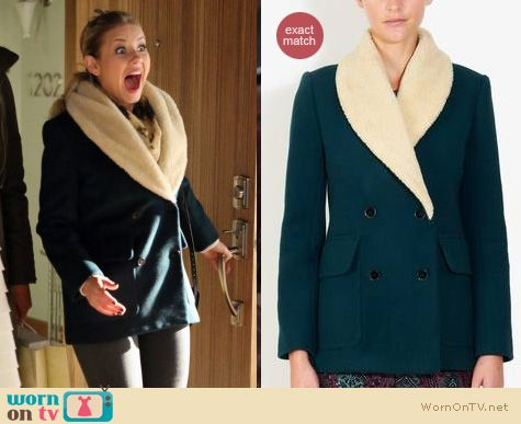 Happy Endings Fashion: Sandro Milady coat worn by Elisha Cuthbert