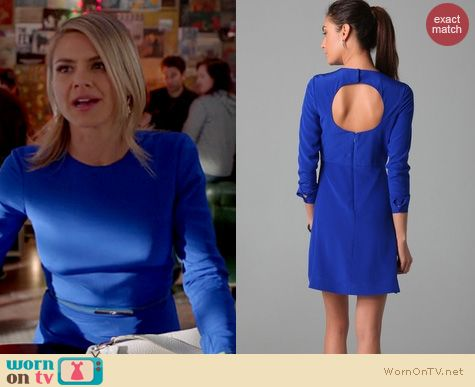 Happy Endings Fashion: Tibi Longsleeved open back dress worn by Eliza Coupe