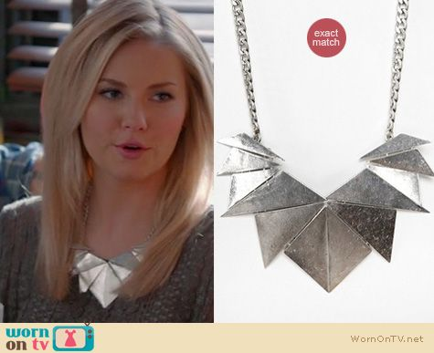 Happy Endings Fashion: Urban Outfitters Palmdale necklace worn by Elisha Cuthbert