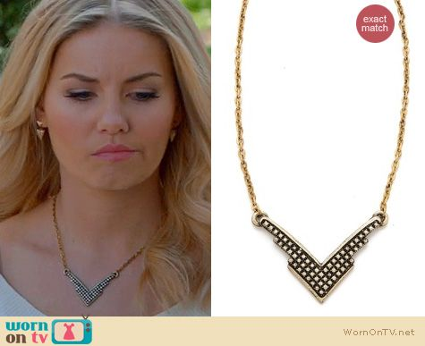 Happy Endings Fashion: Fortunes Fool Necklace by Vanessa Mooney worn by Elisha Cuthbert