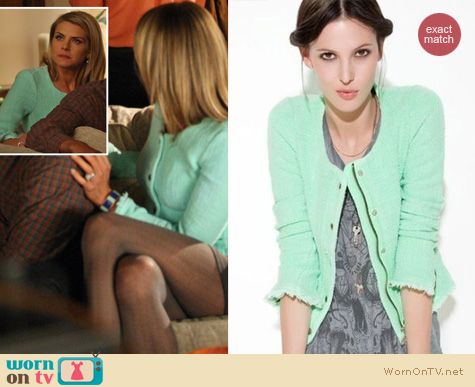 Mint jacket from Zara on Happy Endings worn by Eliza Coupe