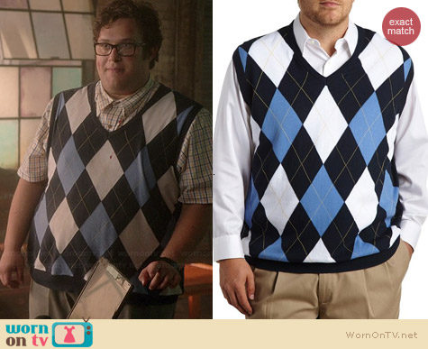 Harbor Bay Argyle Vest worn by Ari Stidham on Scorpion