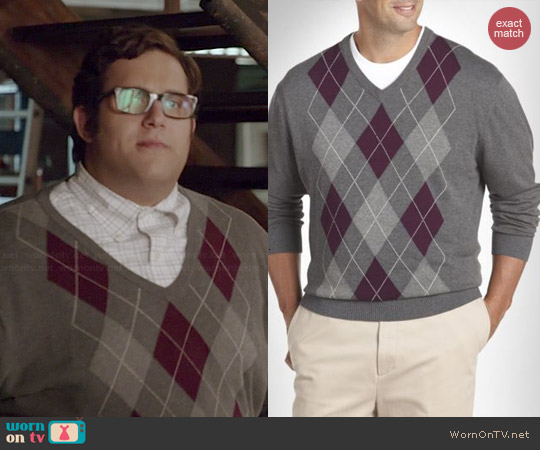 Harbor bay Argyle V-neck Sweater in Granite Heather worn by Ari Stidham on Scorpion