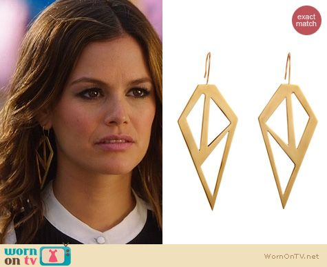 Hart of Dixie Earrings: Brass Galactic Earrings by Jennifer Fisher