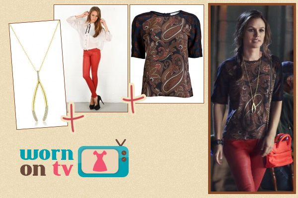Hart of Dixie Fashion: ALC Racci paisley shirt worn by Rachel Bilson