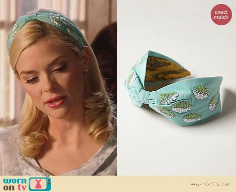 Hart of Dixie Fashion: Anthropologie Beaded Fronds Turban Headband worn by Jaime King