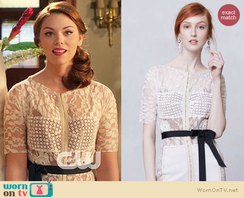 Fashion of Hart of Dixie: Anthropologie Daisy Lace Sheath worn by AnnaBeth Nass