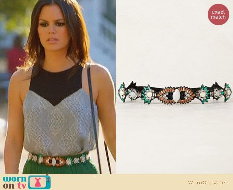 Fashion of Hart of Dixie: Anthropologie Deco Burst Belt worn by Rachel Bilson