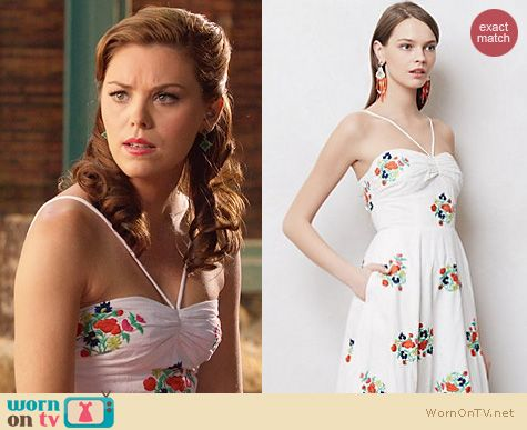 Hart of Dixie Fashion: Anthropologie Floorstitched Midi Dress worn by Kaitlyn Black