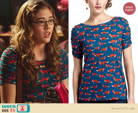 Hart of Dixie Fashion: Anthropologie Here & There Tee worn by McKaley Miller