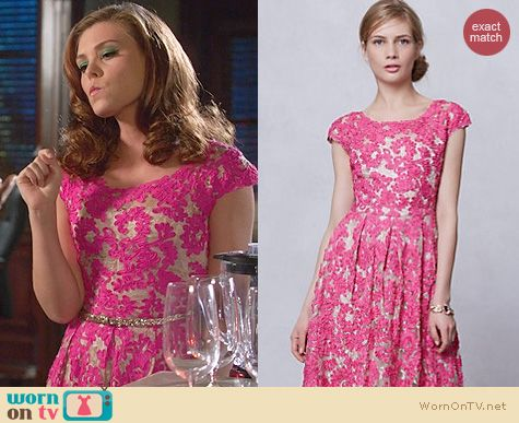 Hart of Dixie Fashion: Anthropologie Jardim Lace Dress worn by Kaitlyn Black