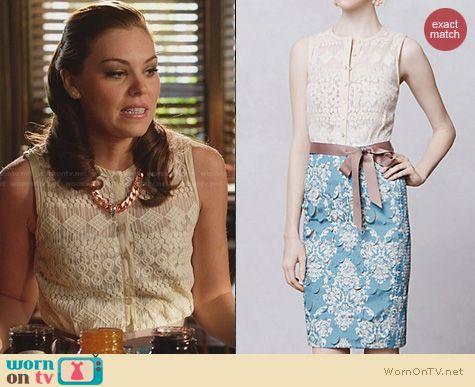 Hart of Dixie Fashion: Anthropologie Lasercut Fleur De Lys Sheath worn by Kaitlyn Black