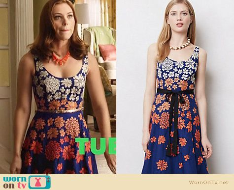 Hart of Dixie Fashion: Anthropologie Shade Garden Dress worn by Kaitlyn Black