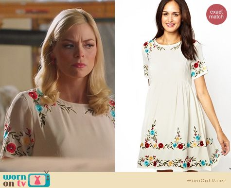 Hart of Dixie Fashion: ASOS Maternity Smock Dress with Embroidery worn by Jaime King