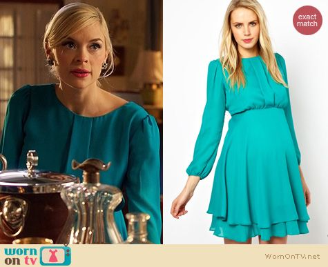Hart of Dixie Style: Asos Double Layer Dress with Long Sleeves worn by Jaime King