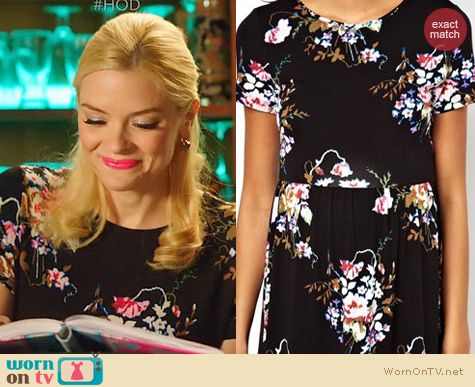 Fashion of Hart of Dixie: ASOS Maternity Midi Skater Dress in large floral worn by Jaime King