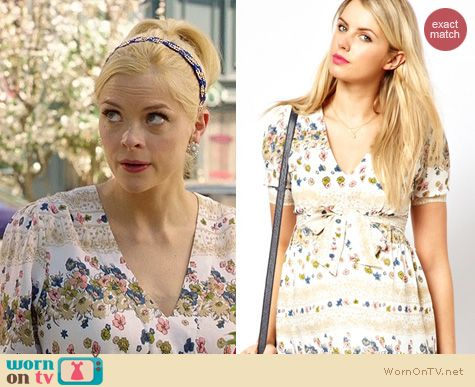 Fashion of Hart of Dixie: ASOS Maternity Vintage Floral Midi Dress worn by Jaime King