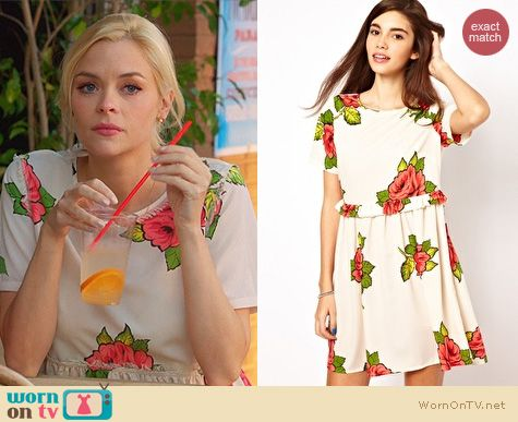 Hart of Dixie Fashion: ASOS Smock Dress in rose print worn by Jaime King