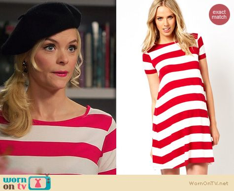 ba9051771a WornOnTV  Lemon s red and white striped t-shirt dress on Hart of ...