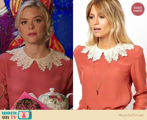 Hart of Dixie Fashion: ASOS swing top with crochet collar worn by Jaime King