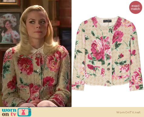 Hart of Dixie Fashion: Dolce & Gabbana Peony print jacket worn by Jaime King