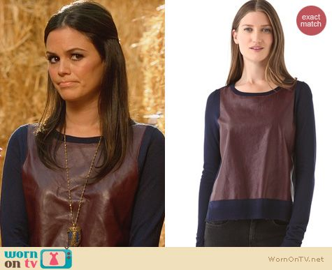 Hart of Dixie Fashion: Elizabeth & James leather pullover worn by Rachel Bilson