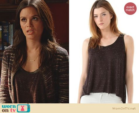 Hart of Dixie Fashion: Enza Costa Chiffon Panel Tank worn by Rachel Bilson
