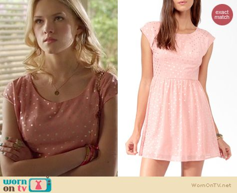 Hart of Dixie Fashion: Forever 21 Dotted bow back dress worn by Claudia Lee