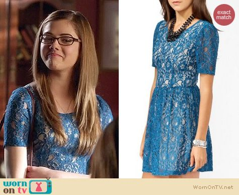 Hart of Dixie Fashion: Forever 21 Lace contrast dress in blue worn by Rose
