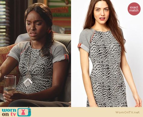 Hart of Dixie Fashion: French Connection Animal Instinct Dress worn by Antoinette Robertson