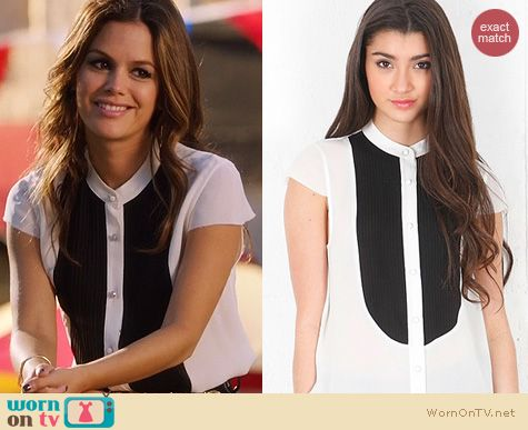 Hart of Dixie Fashion: Haute Hippie Pleated bib blouse worn by Rachel Bilson