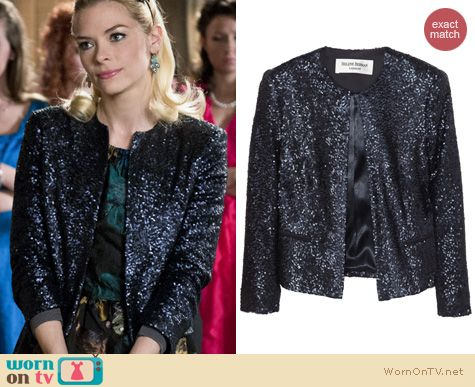Hart of Dixie Fashion: Helena Berman Cropped sequin jacket worn by Jaime King