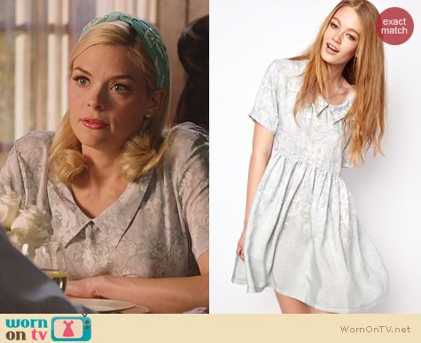 Hart of Dixie Fashion: House of Hackney Smock Dress in Green Dalston Candy Print worn by Jaime King