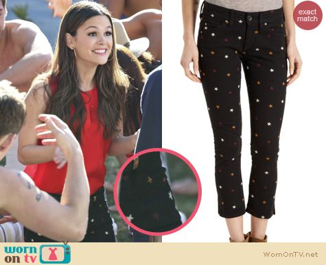 Hart of Dixie fashion: Isabel Marant Deacon star print cropped jeans worn by Rachel Bilson