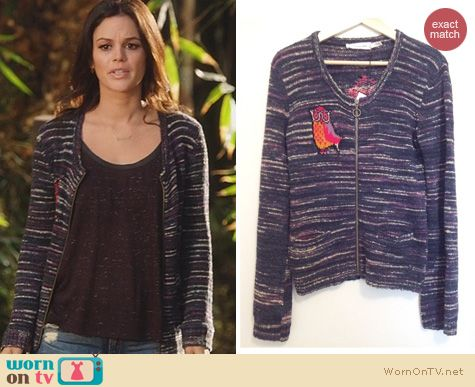 Hart of Dixie Fashion: Isabel Marant Sienne Owl cardigan worn by Rachel Bilson