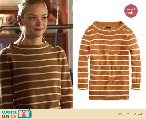WornOnTV: Lemon's brown and white striped sweater on Hart of Dixie ...
