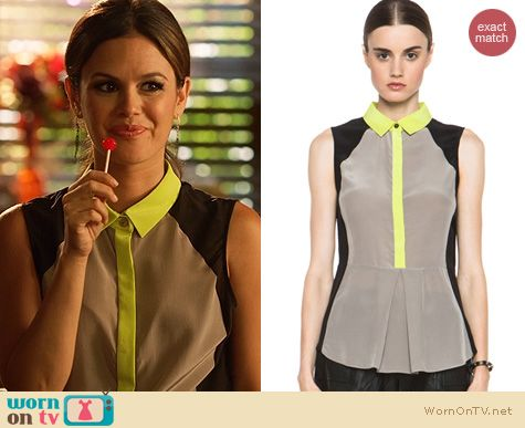 Hart of Dixie Fashion: Jonathan Simkhai Colorblock Top worn by Rachel Bilson