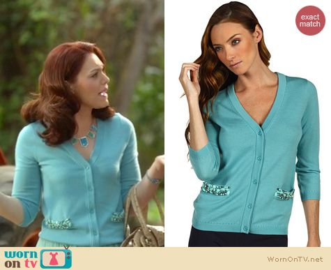 Hart of Dixie Fashion: Kate Spade Hilda cardigan worn by Kaitlyn Black