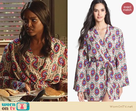 Hart of Dixie Fashion: LFV La Fee Verte Oval Print Robe worn by Antoinette Robertson