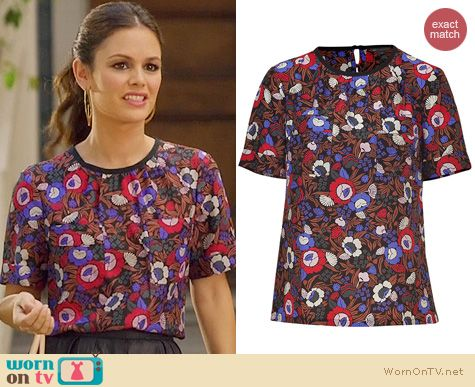 Hart of Dixie Fashion: Marc by Marc Jacobs Floral Blouse worn by Rachel Bilson