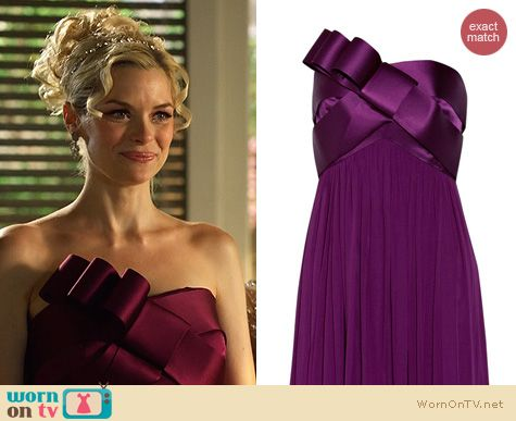 Hart of Dixie Fashion: Marchesa bow detail gown worn by Jaime King