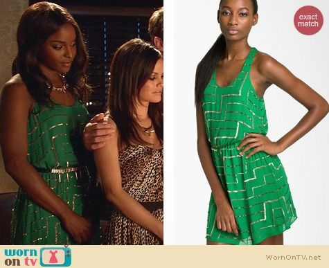 Hart of Dixie Fashion: Parker Geometric Sequin Dress worn by Antoinette Robertson