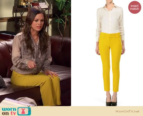 Hart of Dixie Fashion: Rag & Bone New Malin pant worn by Rachel Bilson