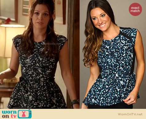 Hart of Dixie Fashion: Rebecca Taylor glitter peplum top worn by Rachel Bilson