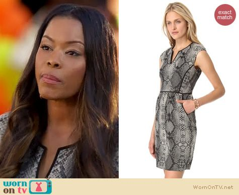 Hart of Dixie Fashion: Rebecca Taylor Python dress worn by Golden Brooks