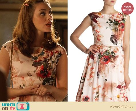 Hart of Dixie Fashion: Ted Baker Floral Rupin Bloom Dress worn by Kaitlyn Black