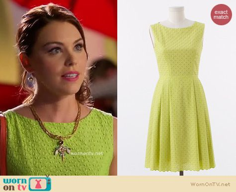 Hart of Dixie Fashion: Tess & Co Nanette dress in acid green worn by Kaitlyn Black