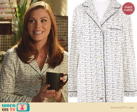 Hart of Dixie Fashion: Tory Burch Love You NightDress worn by Kaitlyn Black